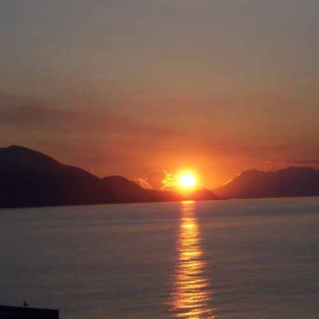 The Aeolian Islands, view from the terrace of my house